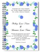 Personalized Wedding Invitations Spiral Notebook
