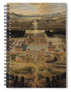Perspective View Of The Chateau Gardens And Park Of Versailles Spiral Notebook