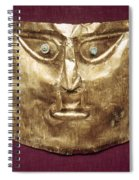Peru: Chimu Gold Mask Spiral Notebook