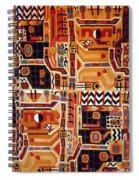 Peru: Tunic Fragment Spiral Notebook