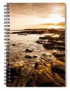 Petal Point Ocean Sunrise Spiral Notebook