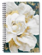 Petals Impasto White And Gold Spiral Notebook