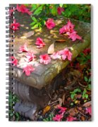 Petals On A Bench Spiral Notebook