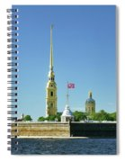 Peter And Paul Fortress. Saint Petersburg, Russia Spiral Notebook
