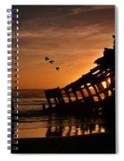 Peter Iredale Shipwreck Spiral Notebook