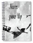 Peter Pan-black Spiral Notebook