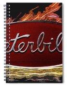Peterbilt Emblem In Flames Spiral Notebook