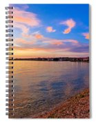 Petrcane Beach Golden Sunset View Spiral Notebook