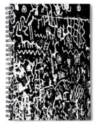 Petroglyphs Vertical Black And White Spiral Notebook