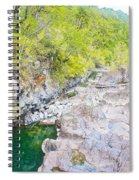 Petrohue River In Vicente Perez Rosales National Park Near Puerto Montt-chile Spiral Notebook