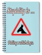 Petting Bigstock Donkey 171252860 Spiral Notebook