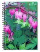 Pretty Little Bleeding Hearts Spiral Notebook