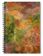 Petunias And Lantana Collage Spiral Notebook