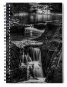 Pewits Nest Waterfalls In Black And White Spiral Notebook