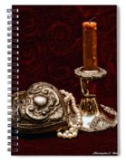 Pewter And Pearls Spiral Notebook