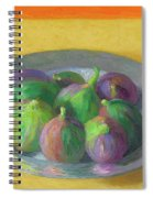 Pewter Plate With Figs Spiral Notebook