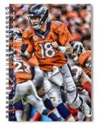 Peyton Manning Art 2 Spiral Notebook
