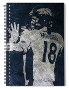 Peyton Manning Broncos 2 Spiral Notebook