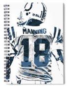 Peyton Manning Indianapolis Colts Pixel Art Spiral Notebook
