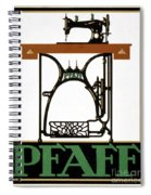 Pfaff Vintage Advertising Poster Restored Spiral Notebook