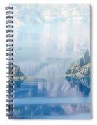 Phantom Ship Island In Mist At Crater Lake Spiral Notebook