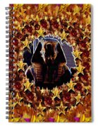 Pharaoh In The Starry Night Spiral Notebook