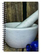 Pharmacy - Mortar And Pestle - Square Spiral Notebook