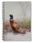 Pheasants In The Snow Spiral Notebook