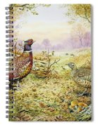 Pheasants In Woodland Spiral Notebook