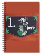 Phil Up Here Spiral Notebook