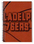Philadelphia 76ers Leather Art Spiral Notebook