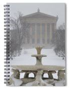 Philadelphia Art Museum From The West In Winter Spiral Notebook