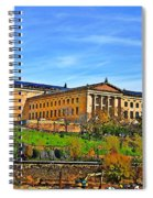 Philadelphia Art Museum From West River Drive. Spiral Notebook