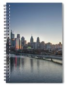 Philadelphia At Dawn From The South Street Bridge Spiral Notebook