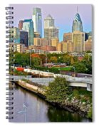 Philadelphia At Dusk Spiral Notebook