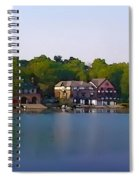 Philadelphia Boat House Row Spiral Notebook
