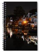 Philadelphia Boathouse Row At Night Spiral Notebook