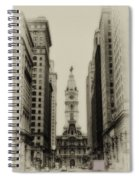 Philadelphia City Hall From South Broad Street Spiral Notebook