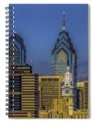 Philadelphia City Hall Skyline Spiral Notebook
