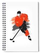 Philadelphia Flyers Player Shirt Spiral Notebook