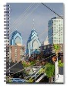 Philadelphia From Penns Landing Spiral Notebook