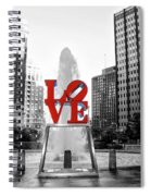 Philadelphia - Love Statue - Slective Coloring Spiral Notebook