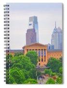 Philadelphia Museum Of Art From Lemon Hill Spiral Notebook