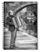 Philadelphia Music Man Bnw Spiral Notebook