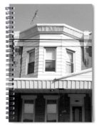 Philadelphia Row Houses - Black And White Spiral Notebook