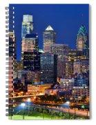 Philadelphia Skyline At Night Spiral Notebook