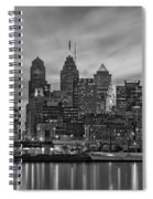 Philadelphia Skyline Bw Spiral Notebook