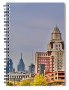 Philadelphia Skyline From Camden Waterfront Spiral Notebook