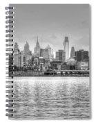 Philadelphia Skyline In Black And White Spiral Notebook