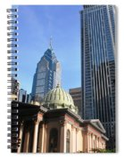 Philadelphia Street Level - Skyscrapers And Classical Building View Spiral Notebook